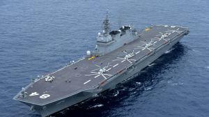 I  Japans så kallade självförsvarsstyrkor ingår också helikopterhangarfartyget JMSDF Kaga och en flotta av ubåtar