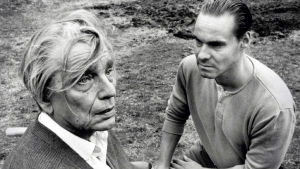 Martti Katajisto ja Hannu Kiviojaa elokuvassa Isä meidän.