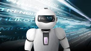 Robotti katsoo eteenpäin