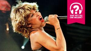 Tina Turner sjunger i en mikrofon.