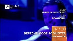 Ruutukaappaus Depeche Mode -teemalauantain trailerista.