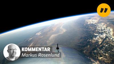 En bild över jorden tagen från SpaceShipTwo.