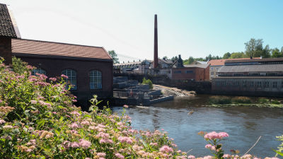 Bild av Svartån kirng bruksområdet i Billnäs.