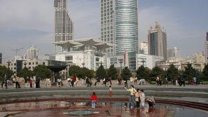 Folkets torg i Shanghai.