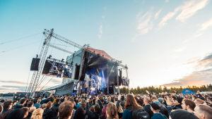 Ozzy Osbourne på Rockfest i Hyvinge 6.6.2018. Vid bild över hela scenen.