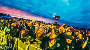 Publik på Judas Priests konsert i Hyvinge 7.6.2018.