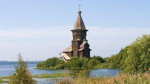 Ortodox träkyrka i Kontupohja