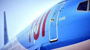 TUI:s Boeing 737 MAX flygplan.