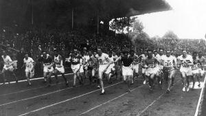 Starten på 10000 meter i OS i Paris 1924.