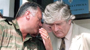 Radovan Karadzic och Ratko Mladic 1993.
