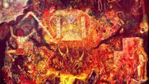 En konstnärs föreställning av armageddon.