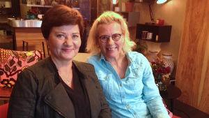 Bettina Sågbom och Christine Suvanto i Efter Nio radio