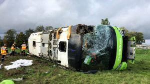 Bussolycka nära Berny-en-Santerre i norra Frankrike 3.11.2019