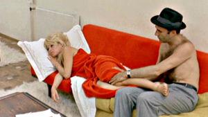 Brigitte Bardot ja Michel Piccoli elokuvassa Keskipäivän aave (Le mépris)