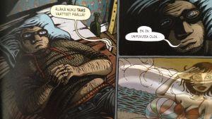 Katja Kettu ja Jan Andersson julkaisivat sarjakuvakirjan Peräkammarin poika