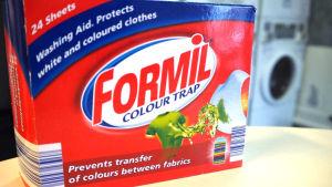 Lidlin Formil Colour Trap -värinkerääjäliinojen pakkaus