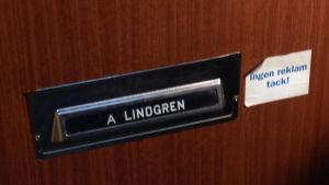 Dörren till Astrid Lindgrens hem