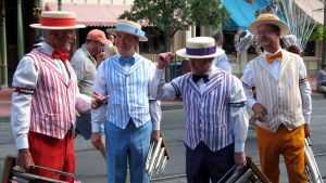 The Dapper Dans barbershop quartet, at Walt Disney World's Main Street, USA