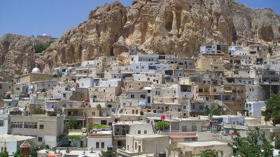 Den urgamka kristna staden Maloula i Syrien