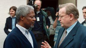 Kofi Annan och Martti Ahtisaari