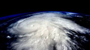 Orkanen Patricia fotograferad från den internationella rymdstationen ISS.