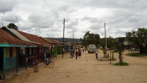 Vy över byn Maralal