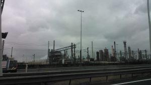 Industriområde i Rotterdam.