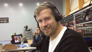 Olle Stenius, handbollsexpert för Yle Sporten.