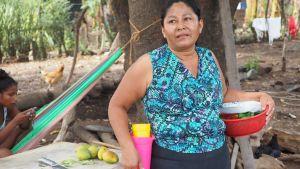 Kvinna i Nicaragua