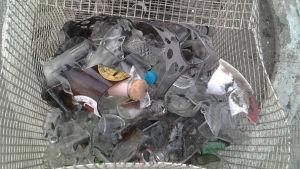 Lasi- ja muoviroskaa kerätty rannalta Filippiineillä