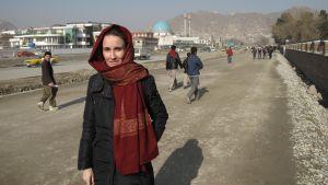 Journalisten Jenny Nordberg i Afghanistan