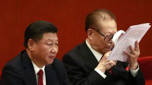 Xi Jinping efterträdde Jiang Zemin som president år 2013