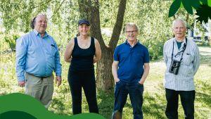 Anders Albrecht, Mimma Ekblad, Hans Hästbacka och Jörgen Palmgren.