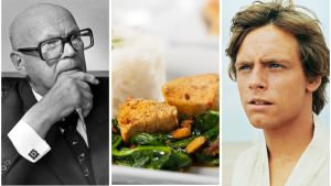 Bildcollage: Kekkonen, chicken vindaloo, Luke Skywalker