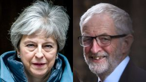 Theresa May och Jeremy Corbyn.