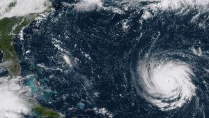 Den här satellitbilden på orkanen Florence togs den 10 september.