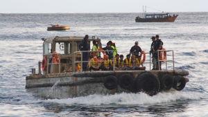 Flyktingar på en båt påväg till Australien.
