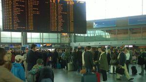 Flygresenärer på Helsingfors-Vanda flygplats