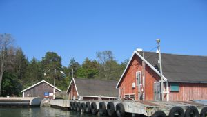 Förbindelsebåtsbryggan på Själö