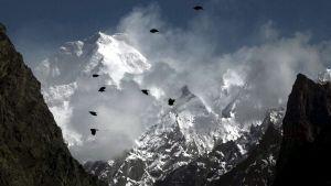 Berget Masherbrum (även kallat K1) i Karakorammassivet i Pakistan.