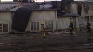 Brandskadad skola