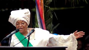 72-åriga Johnson Sirleaf ställer upp för en andra presidentperiod.