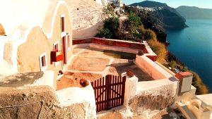 Vy från ön Santorini