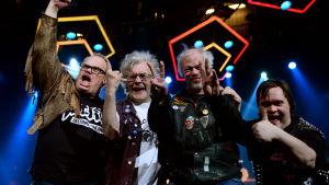 Bandet Pertti Kurikan nimipäivät gläds över att ha gått vidare till final i UMK.