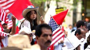 Meksikolainen pikkutyttö Amerikassa