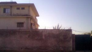 Osama bin Ladens hus i Abbottabad dagen efter att han dödats