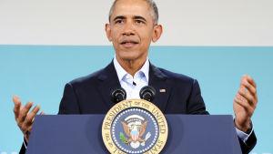 USA:s president Barack Obama under ASEAN-mötet i Kalifornien den 16 februari.