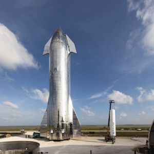 Starship-aluksen ensimmäinen koeversio.