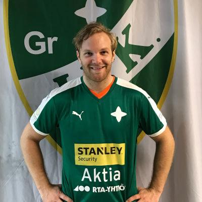 Patrik Johanson i GrIFK:s tröja.
