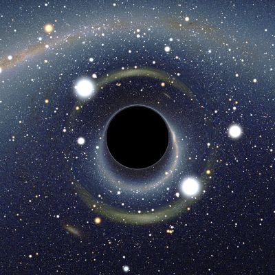 Ett svart hål som artisten ser det.